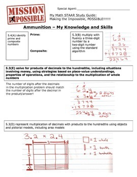 Mission Possible STAAR Math Review - TEKS 5.3B, 5.3E, 5.3D