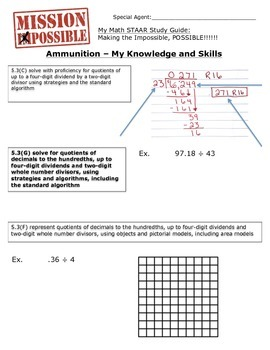 Mission Possible STAAR Math Review - TEKS 5.3C, 5.3G, and 5.3F