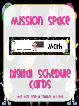 Mission Space Digital Schedule Cards