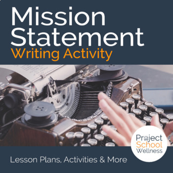 Mission Statement Writing Activity | Middle School Cross-C