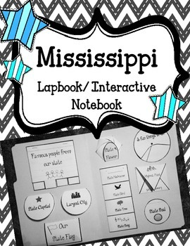 Mississippi Lapbook/Interactive Notebook.  US State Histor