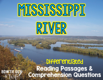 Mississippi River Differentiated Nonfiction Reading Passages
