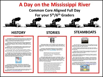 Mississippi River/Common Core Aligned Full Day for Your Sub