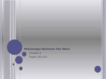 Mississippi between the Wars PowerPoint