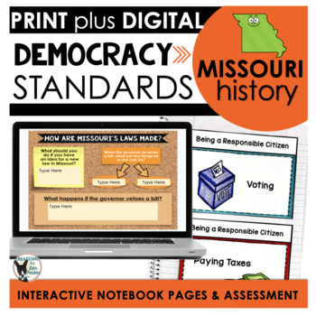 Missouri History: Democracy Standards Interactive Notebook