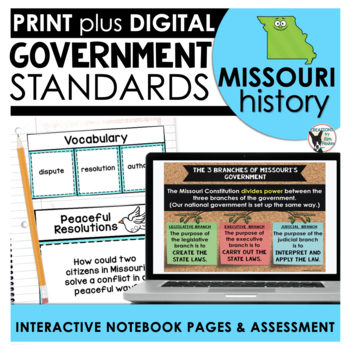 Missouri History: Government Standards Interactive Noteboo