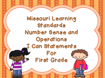 Missouri Learning Standards Math I Can Statements 1st Gr N