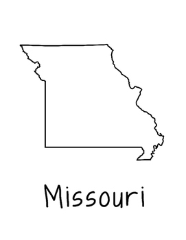 Missouri Map Coloring Page Activity - Lots of Room for Not