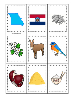 Missouri themed Memory Matching and Word Matching preschoo