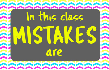 Mistakes Poster Set (brights)