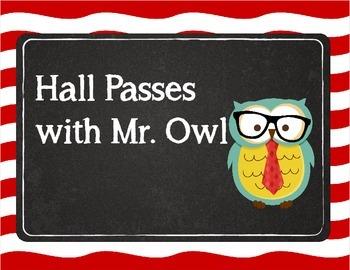 Mister Hipster Owl Hall Passes