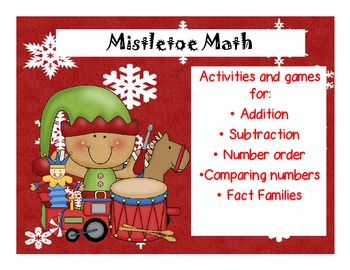 Mistletoe Math: Math workstation activities