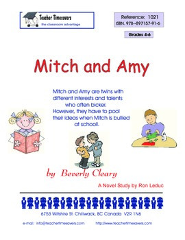 Mitch and Amy by Beverley Cleary - Novel Study for grades 4-6