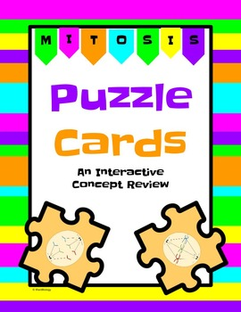 Mitosis Puzzle Cards Interactive Review Activity