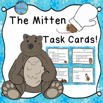 The Mitten Activity:  Task Cards (Reading Comprehension)