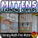 Mitten Centers Winter Centers Activities Math Literacy The