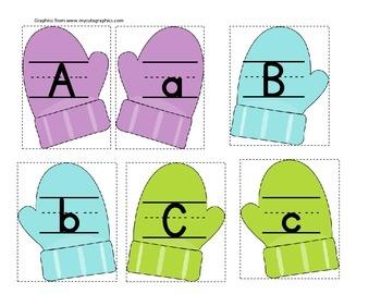Mitten Letter Match (multi color)