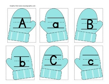 Mitten Letter Match (one color)