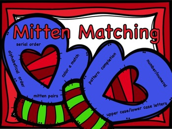 Mitten Matching: Pattern Completion, Number/Numeral, Upper