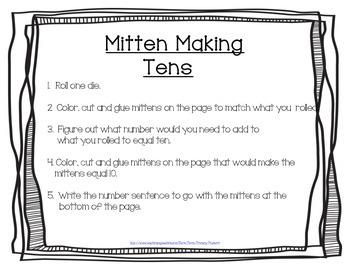 Mitten Math Craftivity