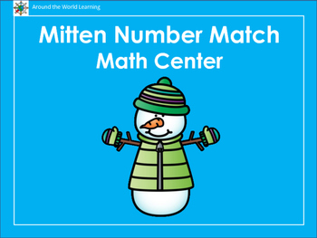 Mitten Number Match Math Center