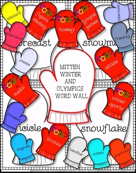 Mitten Winter Olympic Games & Winter Terms Word Wall