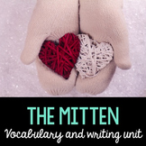 Mitten Word Cards and Word Walls in English and Spanish #s