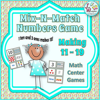 Number Sense - Numbers 11-19 - Mix-N-Match Numbers Game