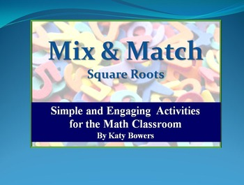 Mix and Match Activity - Square Roots (perfect squares)