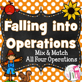 Math Operations Task Cards