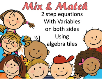 Mix and Match solving 2 step equations with variables on b