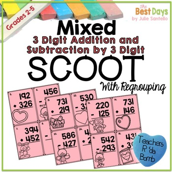 Mixed 3 Digit Addition and Subtraction by 3 Digit  With Re