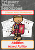 Addition Worksheets including Ancient Roman Themed Word Problems
