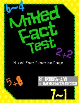 Mixed Addition & Subtraction Fact Test