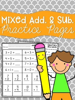 Addition & Subtraction Practice Sheets
