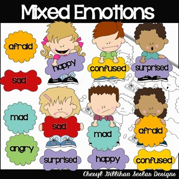 Mixed Emotions Clipart Collection
