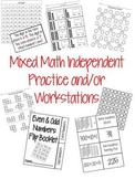 Mixed Math Activities-For Independent Work and/or Centers