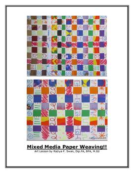 Mixed Media Paper Weaving!!! Art Lesson!!!