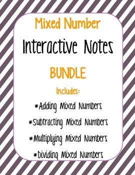 Mixed Number Interactive Notes BUNDLE