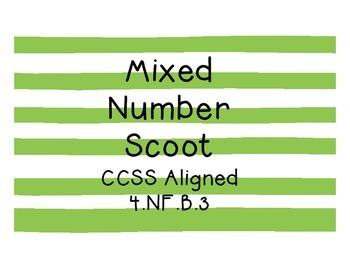 Mixed Number Scoot