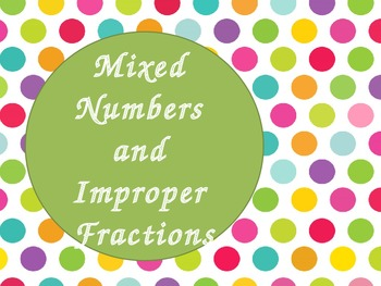 Mixed Number and Improper Fractions (PowerPoint)