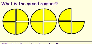 Introduction to Mixed Numbers Smartboard