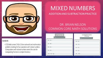 Mixed Numbers (Addition and Subtraction Practice) - PowerP