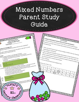 Mixed Numbers Parent Study Guide- Conversions, Adding, & S