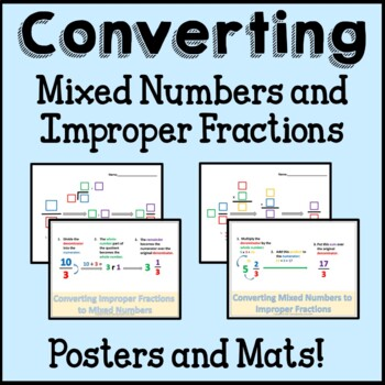 Converting Mixed Numbers and Improper Fractions 4th Grade