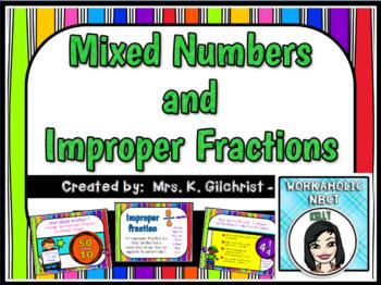 Mixed Numbers and Improper Fractions Promethean ActivInspi