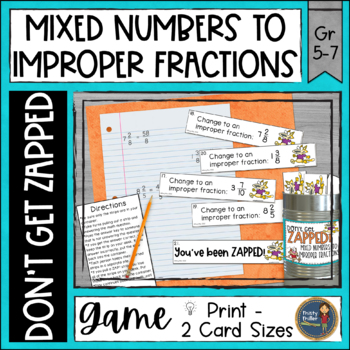 Mixed Numbers to Improper Fractions ZAP Math Game