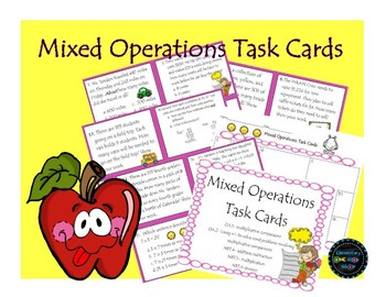 Mixed Operations Task Cards