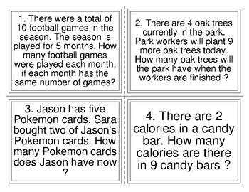 Mixed Operations Word Problem Task Cards (32)