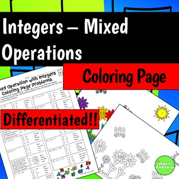 Mixed Operations with Integers (Add, Subtract, Multiply, D